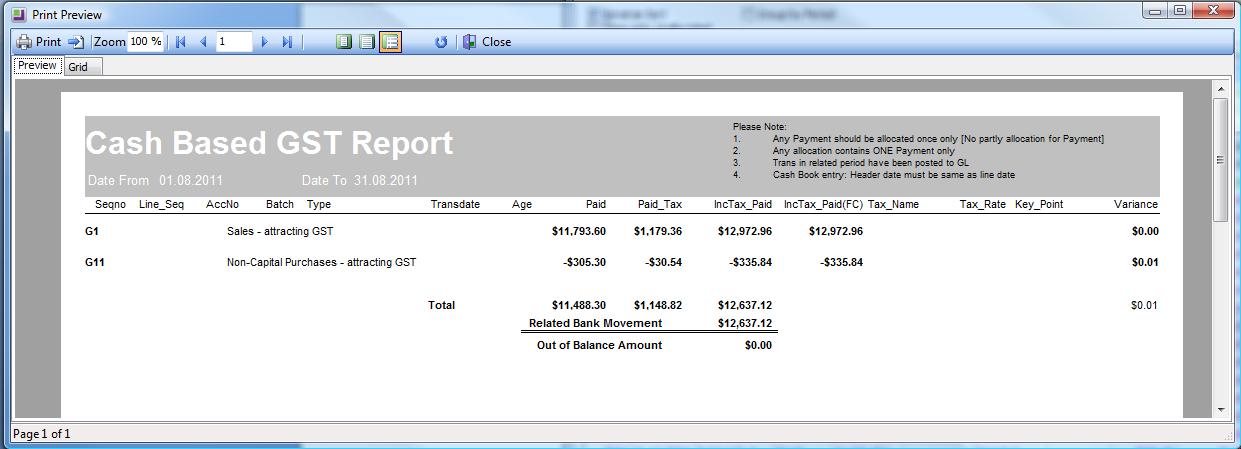 cash based GST report image