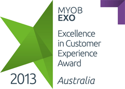 MYOB EXO Excellent in Customer Experience Award 2013