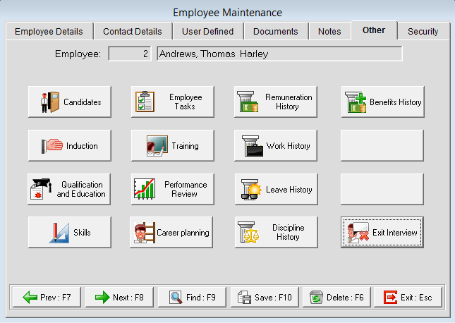 Employee Information Employee Maintenance