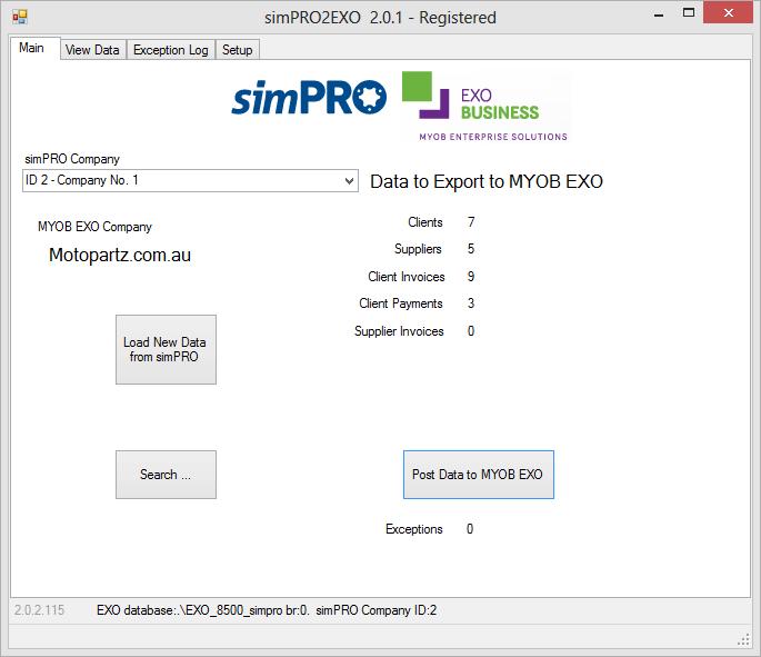 simPRO2EXO image