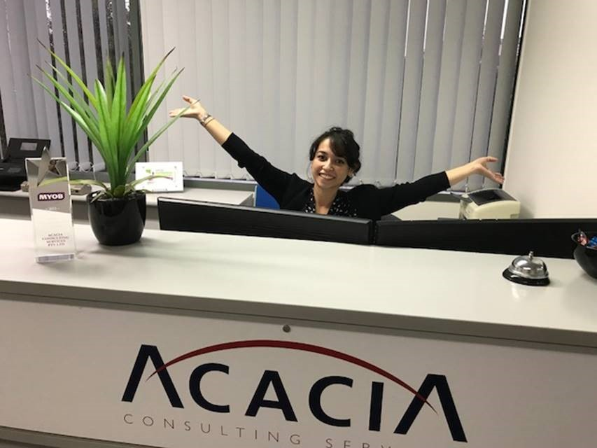 Acacia is settling into our new office!
