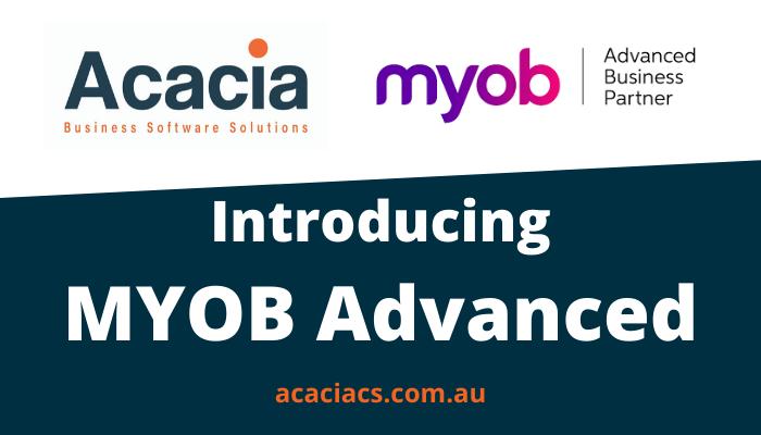 Introducing MYOB Advanced