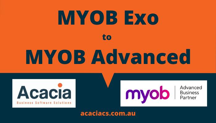 MYOB Exo to MYOB Advanced