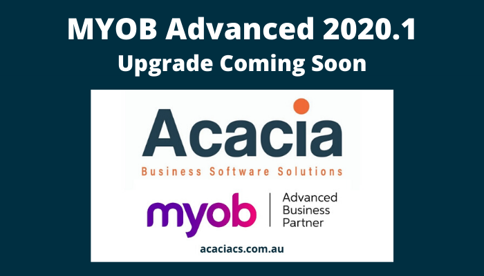 MYOB Advanced 2020.1 Upgrade